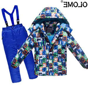 Anorak Kids Set Ski OLOME Suit Winter Girls Parka Boys Jacket Skiwear Toddler Children Snow