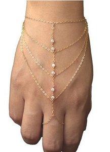 wholesale fashion multi layer bracelet inlaid white rhinestone crystal bracelet