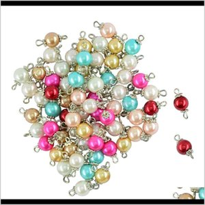 50 Pieces Assorted Color Eye Pin Metal Loop Glass Pearl Fancy Daisy Alloy Cap Loose H1Xq0 Zq7Qo