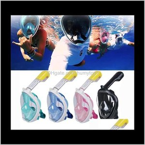 Diving Breathing Masks Explosion Gel Full Face Top Quality Snorkeling Suit Swimming Goggles Water Sports Long Service Life 73Om F1 Sl5 2Gbz9