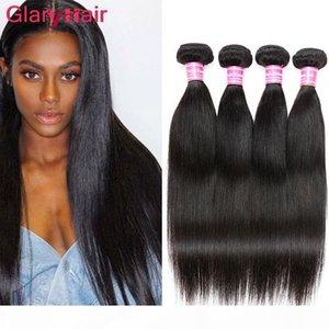 Pacote de Cabelo Virgem Peruana Oferece Extensões de Cabelo Humano Atacado Atacado Duplo Duplo Silky Remy Hair Weave UK DH Gates Color1b