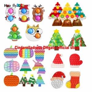 NOVO!!! Christmas Fidget Brinquedos Favores Favores Empurre-se Halloween Bubble Dos Desenhos Animados Dos Desenhos Animados Dos Desenhos Animados Dos Desenhos Animados Soft Sensory Presentes Reusáveis Esprema Fast Entrega Tiktok EU Stock 4966