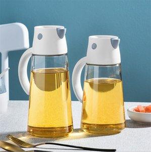 European Style Soy Sauce Vinegar Home Seasoning Bottle Kitchen Pot Glass Oiler Household