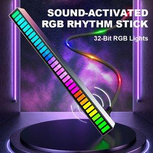 Stick d'éclairage de rythme 32 bits ACTIONNED RGB Spectre audio PickUp Ambient DJ DJ DJ DISPLAY PULLIER LE SIGNAL DE PULLIER COLORÉ