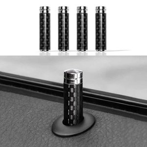 4PCS Universal Door Lock Pin Cover Real Carbon Fiber Car Truck Interior Car Accessories Door Bolt Lock Pin Car Door Lock Buckle