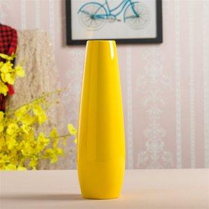 30 cm Moderno Jarrón amarillo Muebles Decoración Cerámica Rojo Tablero Vases Estatua Flower Pot Decoraciones para el hogar Boda 1982 V2