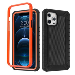 2 in 1 cases for iphone 12 11 Pro Max XR XS 6 7 8 PC+TPU phone case Anti-slip mesh back shell