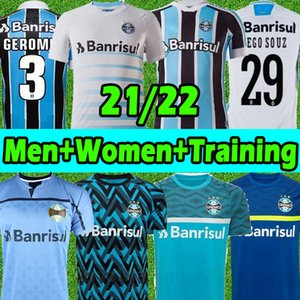 Novo 21/22 Grêmio Camisa de futebol treino Guilda Giuliano 2021 Gremio Soccer jerseys Ramiro Geromel Luan Maicon Fernandinho Homens Mulheres kit Colete Camisas de futebol Thai
