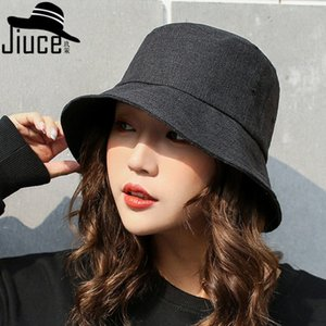 Hats Women's Korean pure color cotton and hemp fisherman's spring and summer outdoor sunscreen leisure basin tide cloth