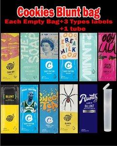 Empty Cookies 2g Blunt Bag Tube Packaging Ooh lala Cookies Lemonade Blunt Indoor Flower Prerolls Bag packaging