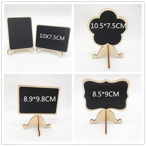 Mini Black Chalkboards Signs Easy to Wipe Out Wood Small Messag Board Signs Place Cards for Wedding Home Party Decoration
