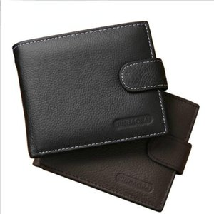 Wallets Genuine Leather Wallet Men Clip Cowhide 2021 Brand Coin Small Clutches Men's Purse Pouch Short