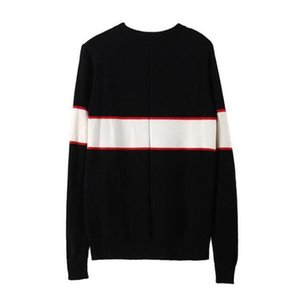 Autumn Winter Black Men's Brand Sweater Fashion Letter Print Man Knitted Blouse Streetwear Loose Pullover Woman Sweaters Tops