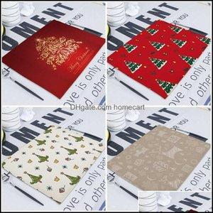 Table Textiles Home & Gardentable Napkin Christmas Decor Dining Fabric Napkins Matting Wedding Linen Cloth Serving For Weddings Towel Kitche