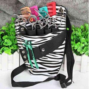 PU Leather Rivet Hair Clips Bag Hairdressing Barber Scissor Holster Pouch Holder Case with Waist Shoulder Belt