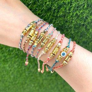10Pcs Lucky Eye Star Cross Hamsa Hand Charm Bracelet Adjustable Braided Rope Chain for Women Men Fashion Jewelry