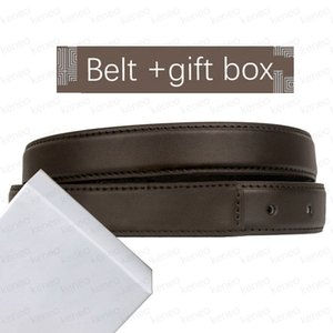 Unisex Fashion Male Belt Genuine Leather Men Belts High Quality Smooth Buckle Female Belts for Women Strap Jeans Leather Belt with Box