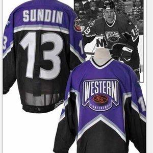 Abn benutzerdefinierte Männer Jugendfrauenweinlese # 13 Matten Sundin Toronto Ahornblätter 1996-97 All Star Hockey Jersey Größe S-5XL oder benutzerdefinierte Name oder Nummer