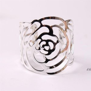 Wedding Napkin Rings Metal Holders For Dinners Party Hotel Table Decoration Supplies Buckle AHE5930
