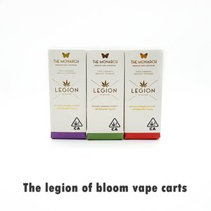 Легион Bloom Tape Cartridges распылитель толщиной масло 0,8 мл стеклянные пустые резервуары плоский наконечник рта