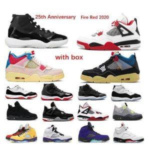 2021 Corte Púrpura Bajo UNC 11S Criado 11 11 Zapatos de baloncesto Brow Brow Blanco con caja Snerkers Hombres Espacio Jamrany