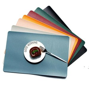 Table Placemat Tableware Mat Pad Faux PU Leather Placemat Heat Insulation Pad Waterproof Stain Resistant Placemats EWC7648