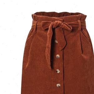 Autumn Winter Womens Skirts Flower Bud Skirt Corduroy High Waist Solid Vintage Casual Women Micro Mini