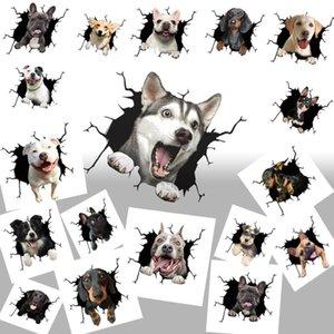 Animal Wall Stickers All Kinds of Dog Creative Hole Window Electrostatic 4GV3723