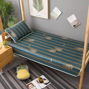 Sheets & Sets Bed Linen, Ice Silk Mat, Summer Machine Washable, Folding 0.9m Bedroom Air-conditioning Two-piece Linen Sheet