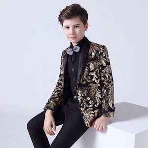 Boy's Suits 5 Pieces Beach Wedding Tuxedos For Kid Shawl Lapel Formal Prom Suit Little Boys Wear