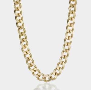Summer piece metal style plated 24K gold large chain necklace
