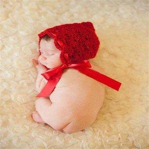 Newborn Baby Photography Props Baby Caps Sombreros Chica / Muchacho Ropa de ganchillo recién nacido Trajes de ganchillo rápido 67 Y2