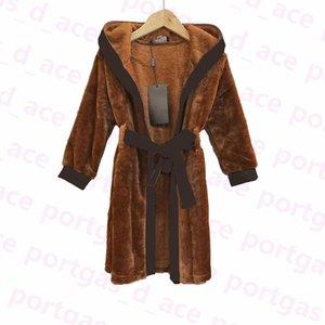 Luxury Bath Robe Coats for Kids New Arrived Winter Autumn Spring Morning Dressing Vintage Thick Warm Bathrobe Sleepwear Chidrens Brown Dress Gown