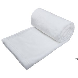 Sublimation Baby Blankets 30*40inch Polyester Blanket Warm Soft Cover White Blank Thermal Transfer Printing Swaddle Wrap by sea HWB10417
