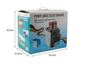 2021 Portable Electronic 12V 6L 48W Auto Car Mini Fridge Travel Refrigerator ABS Multi-Function Home Cooler Freezer Warmer Free