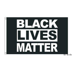 50pcs direct factory wholesale 90*150cm 3x5 fts Black Lives Matter Flag BLM Peace Protest Outdoor Banner GWE5586