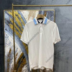 2021 Diseñador de verano Ropa de lujo para hombre polo clásico de manga corta letra impresa camiseta Cuello casual Tshirts Vestido T Shirt Tops de algodón Tee