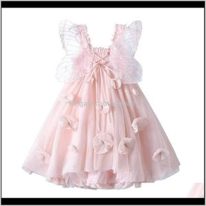Girl'S Dresses Girls Butterfly Wing Princess Clothes Flower Party Tutu Pettiskirt Formal Pageant 1-8T B4508 Ty26Q 6Hcdl