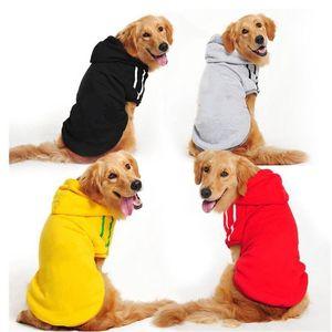 Winter Warm Large Dog Clothes Hoodie Coat Sweater For Dogs Pet Golden Retriever Labrador Alaskan Apparel