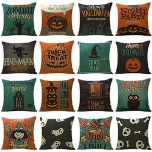 Halloween theme pillow case skull witch series square pillowcases car sofa linen cushion cover wholesale custom logo Simple modern cartoon pumpkin decor pillowco