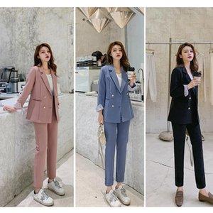Ensemble Blazer et Pantalon de Protection Pour Femmes Veste Deux Pezzi Slim Femme Tenue Bureau Due pantaloni da donna