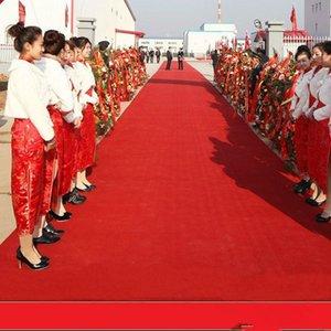 الزفاف المركزية تفضل أحمر نسيج غير منسوج السجاد الممر عداء لحفل زفاف الديكور لوازم الرماية الدعامة 20 متر / لفة