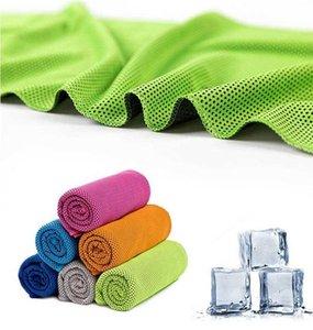 90 * 30см летнее солнцезащитное спортивное упражнение прохладно быстрое сухое мягкое дышащее охлаждение полотенце ледяное холодное полотенце охлаждение