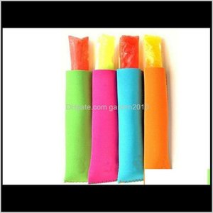 Kitchen Tools Kitchen, Dining Bar Home & Garden Drop Delivery 2021 50Pcs Lot Fast 15X4Cm Popsicle Ice Sleeves Zer Pop Holders 10 Colors Dskg2