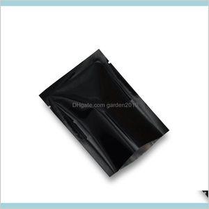 Storage Bags Home & Organization Housekeeping Garden 7X10Cm Black Open Top Mylar Package 200Pcs Lot Heat Sealable Aluminum Foil Food B