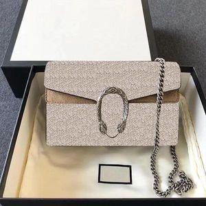 2021 ladies Bacchus designer bag brand fashion messenger one shoulder chain classic quality wallet net red oblique