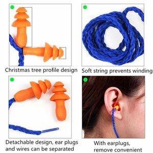 Soft Silicone Corded Noise Prevention Earplugs Ear Plumbing Valves Hearing Protection Noises Reduction Earpluges Crop Ship Earplug Earmuffs Swimming Earwax