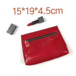 Classic fashion red makeup bag lipstick cosmetic bags ladies handbag for women favorite toiletry case vip gifts
