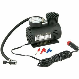 Dc12V 300Psi Inflator Auto Mini Air Compressor Tire Pump With Pressure Gauge For Car Bicycle Motorcycle Ball