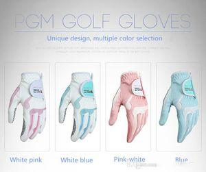 Ladies' golf gloves.Golf ball super fibre cloth gloves.Gloves have anti-skid particles